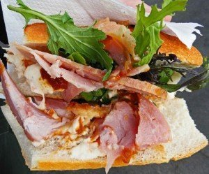 Auckland French Market Ham sandwich