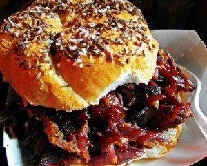 BBQsa Saratoga rib sandwich weck