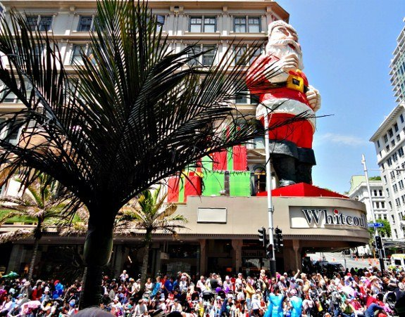 Christmas in New Zealand Santa in Auckland parade