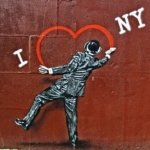 I Love New York graffiti