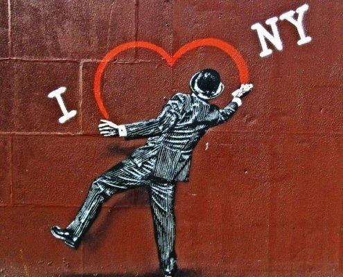 I Love New York graffiti