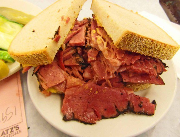 Katzs deli pastrami best sandwiches in the world