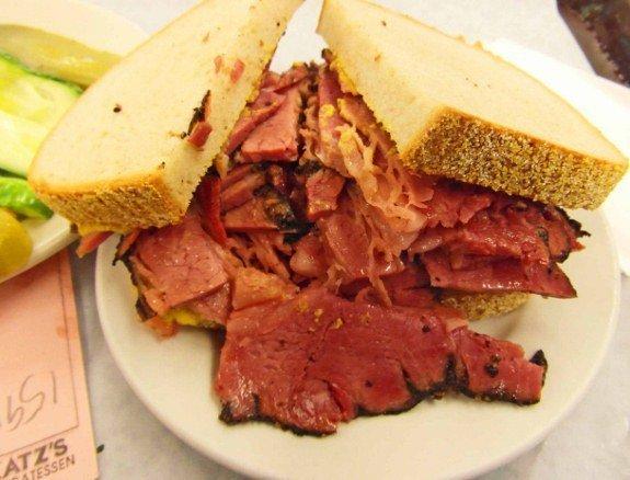 Katzs deli pastrami best sandwiches in the world
