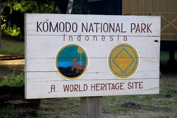 Komodo national park sign