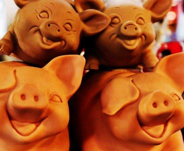 Barcelona Boqueria Market pigs