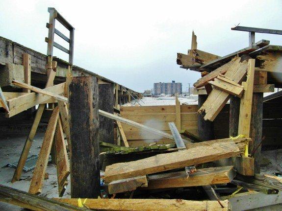 Long Beach boardwalk damage Hurricane Sandy