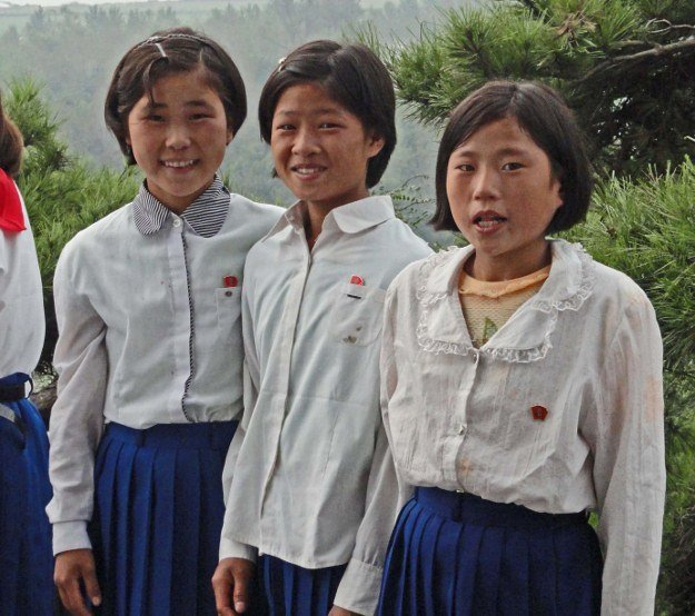 Photos of North Korean children