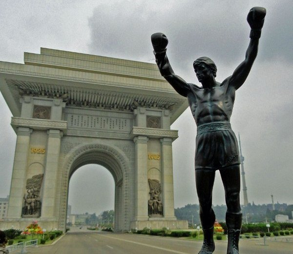 Rocky statue Arch of Triumph North Korea