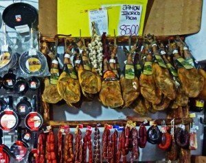 Spain market ham