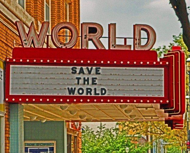 art deco movie theater world Kearney Nebraska