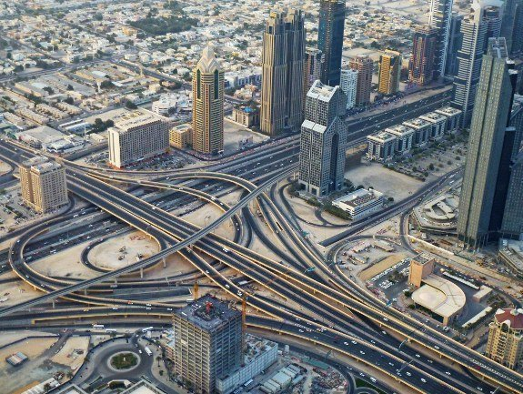 Burj Khalifa Dubai view interchange