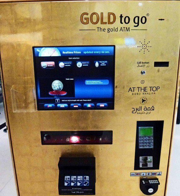 Gold to Go gold dispensing machine