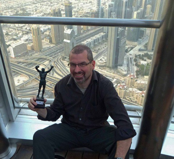 Atop the Burj Khalifa, the tallest building in the world