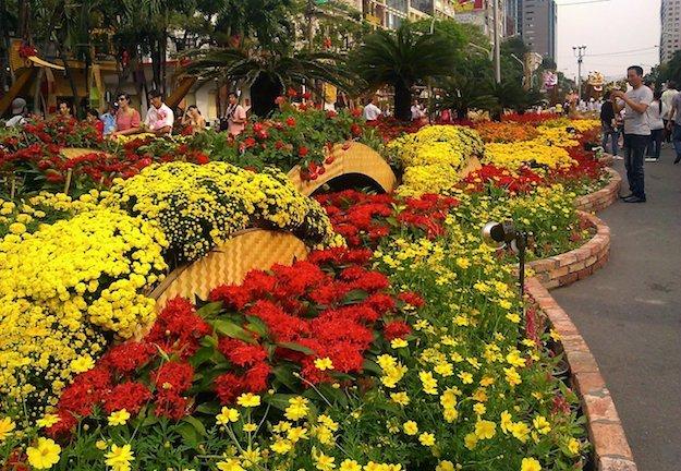 Nguyen Hue Flower Street, Tet Holiday, Ho Chi Minh City