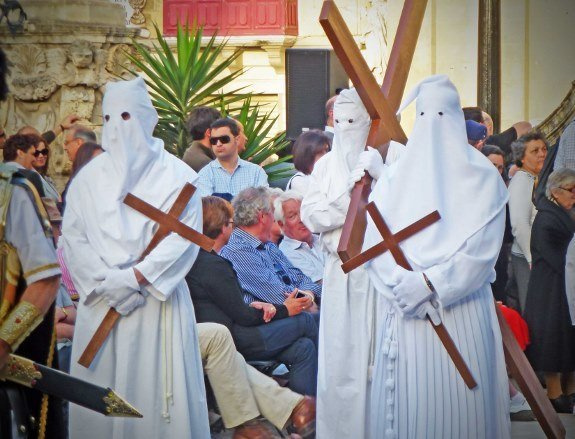 Malta good friday procession-masked pilgrims-Changes in Longitude
