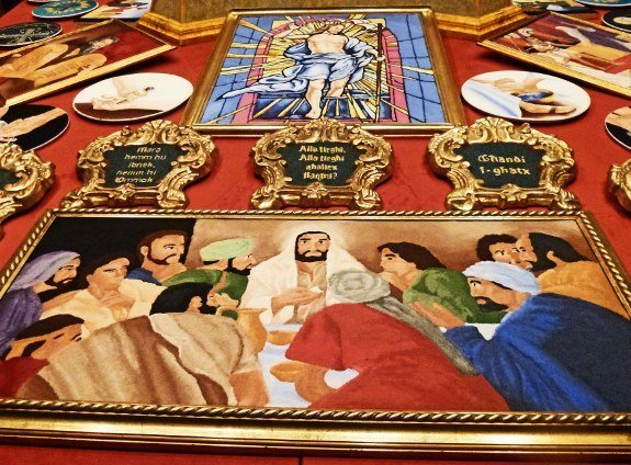 Malta rice last supper painting