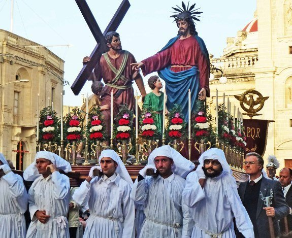 Good Friday procession Malta-feast-Jesus and cross-Changes in Longitude