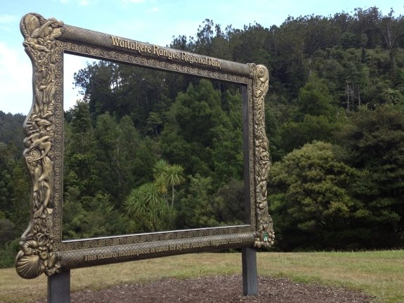 waitakere ranged park entrance frame