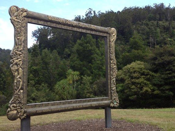 waitakere ranged park entrance frame