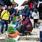 Street vendor selling herbs in Jerusalem muslim quarter