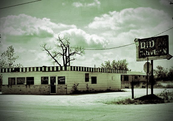 Picher Oklahoma ghost town drive in (575x402)