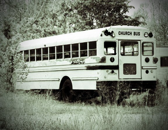 Picher Oklahoma abandoned bus