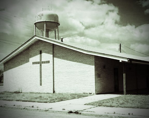 Picher church and water tower (575x456)