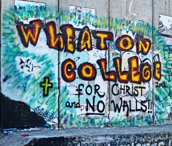 Israel security wall mural Wheaton College