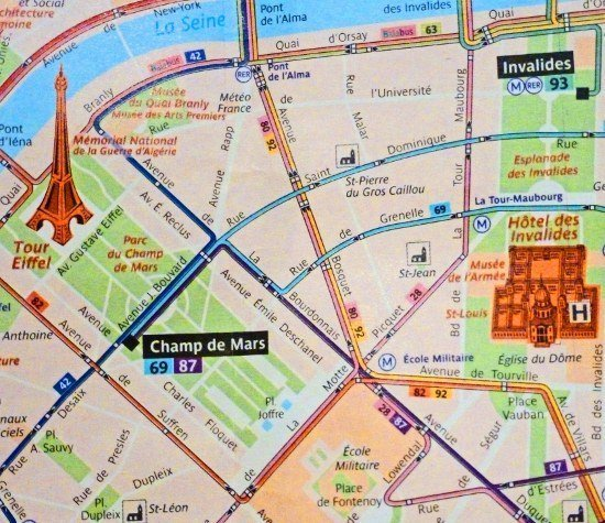 Paris metro bus map