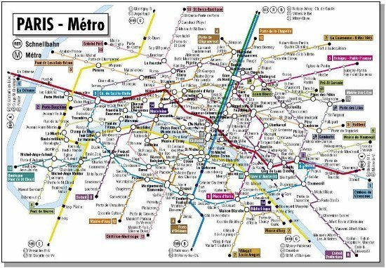 Paris Metro Map English | fysiotherapieamstelstreek