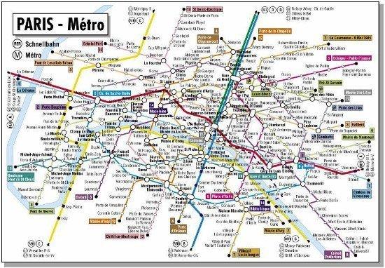 A better Paris Metro map – Metro Map in Paris