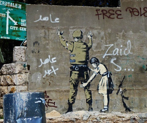 Security wall in Israel murals Banksy