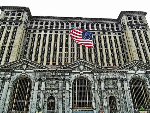 michigan central station flag