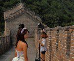 Great Wall of China bride