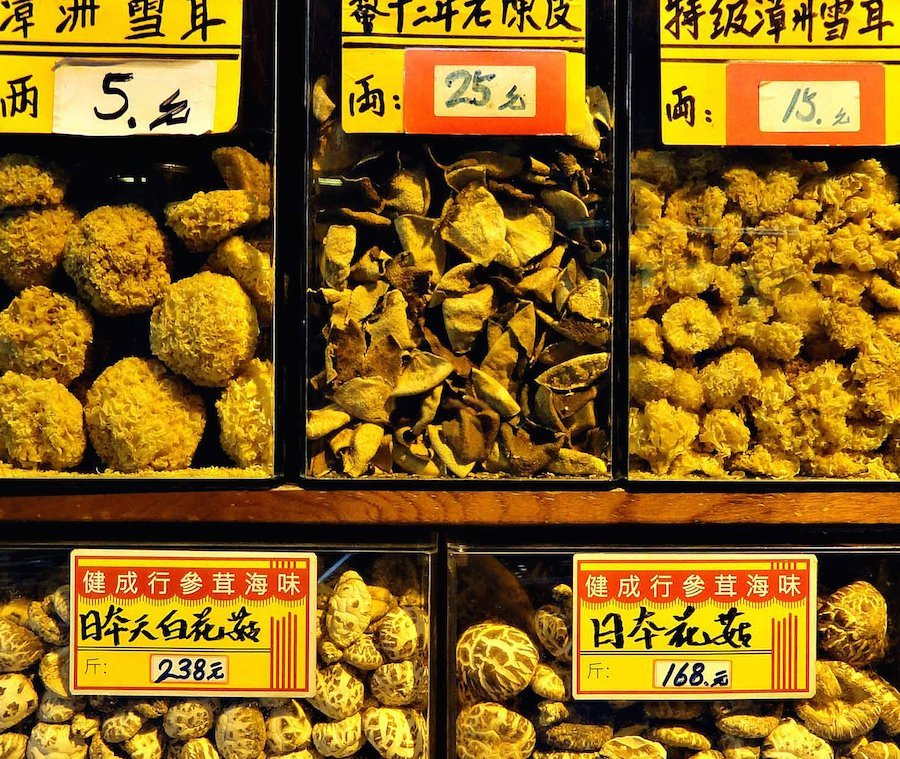 Hong Kong dried mushrooms ginseng 900