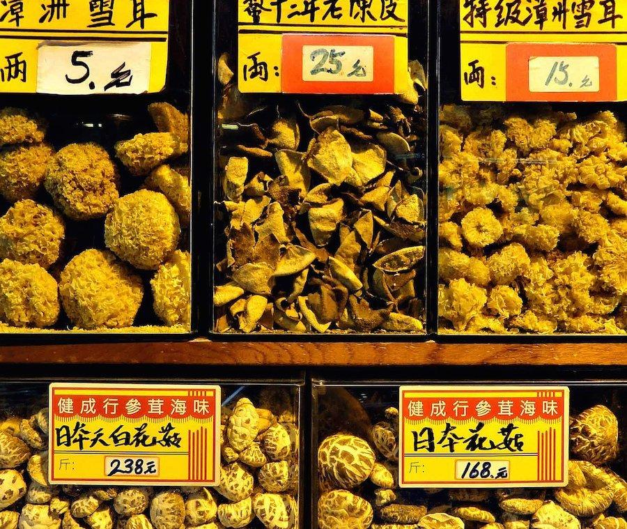 Hong Kong dried mushrooms ginseng 900