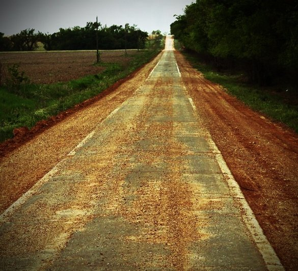 one lane route 66 oklahoma