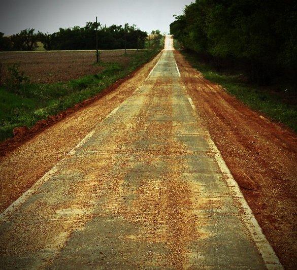 one lane route 66 oklahoma