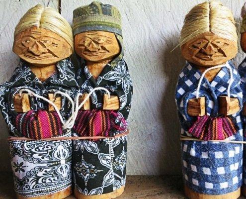 traditional Indonesian dolls in tana toraja