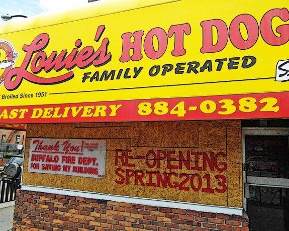 Buffalo hot dogs louies