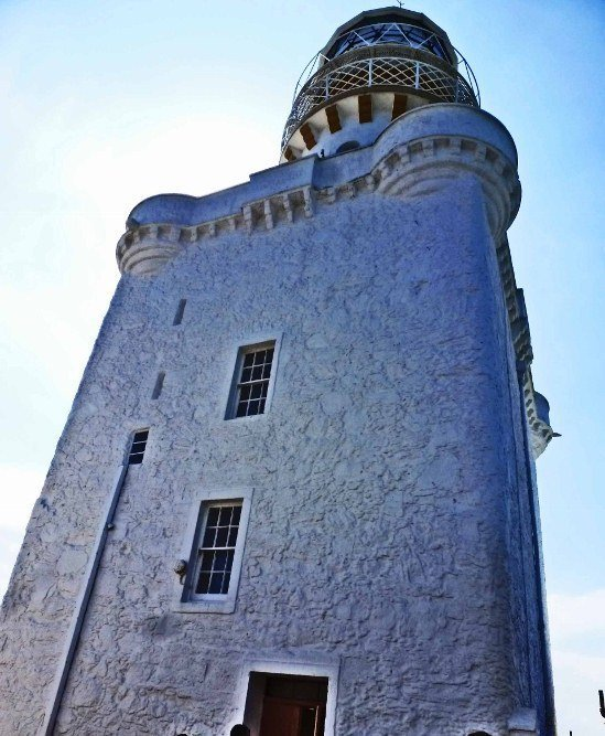 Kinnaird Head Lighthouse castle in Scotland