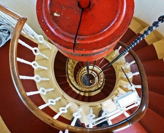 Kinnaird Head Lighthouse in Scotland interior stairs