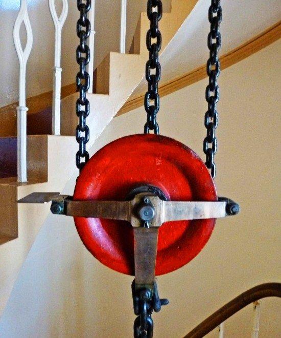 Kinnaird Head Lighthouse in Scotland pulley