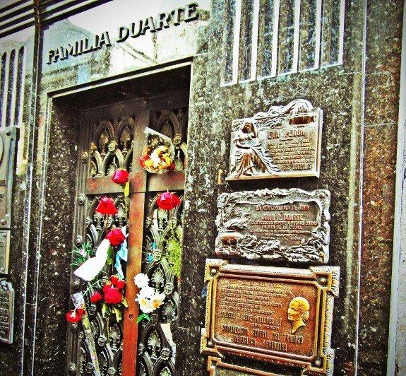 Buenos Aires recoleta cemetery Evita Duarte tomb