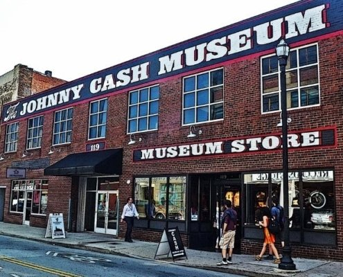 exterior of Johnny Cash museum