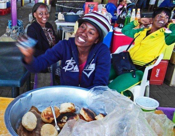 Kapana roll Katatura market Namibia