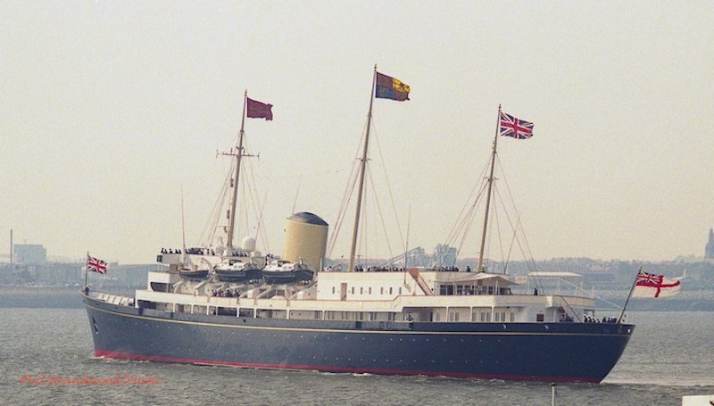 Royal Yacht Britannia at sea