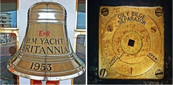 Royal Yacht Britannia-polished brass