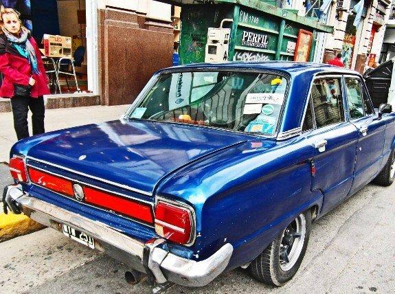 Vintage cars Buenos Aires blue falcon Larissa