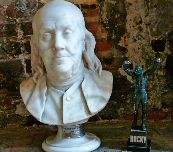 benjamin franklin rocky statue